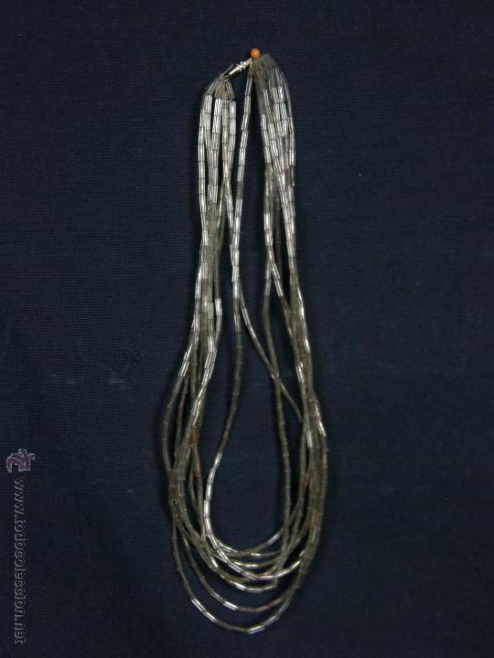 Joyeria: collar gargantilla 21cms cerrado tubos vidrio transparente años 60 - Foto 2 - 48886822