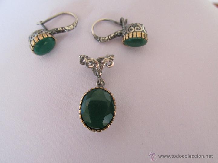 8bd175ea3c7a pendientes y colgante con esmeraldas verdes - Comprar Bisuteria en ...