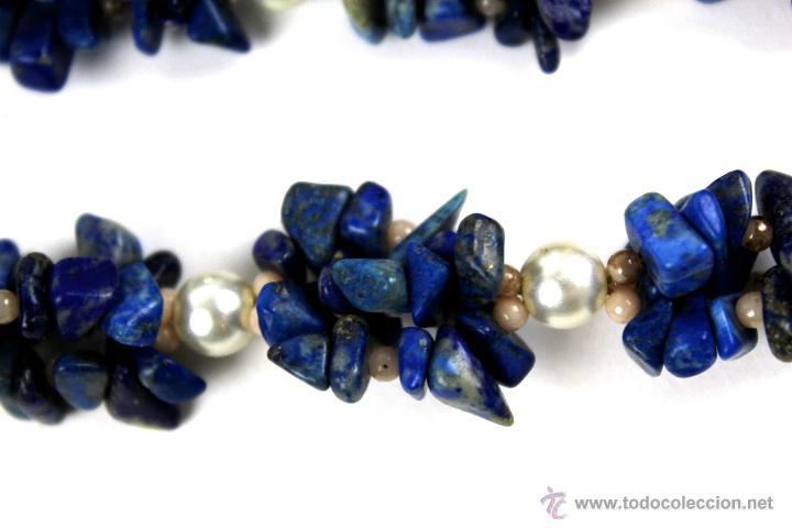 Collar perlas lapizlazuli