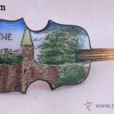 Joalheria: BROCHE ESMALTADO FORMA DE VIOLON LA ROCHE. Lote 51231386