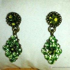 Schmuck - pendientes con cristales verdes - 45778841