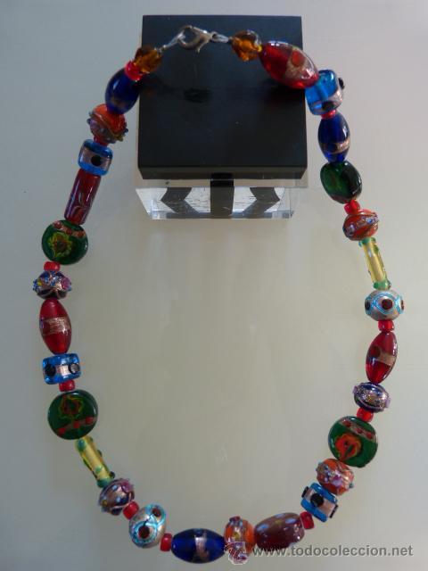 9297bcb8ba01 collar de cristal de murano de colores - Comprar Bisuteria en ...