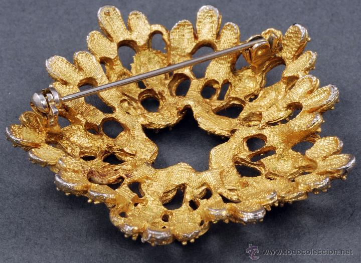 Joyeria: Broche bronce dorado forma flor años 50 vintage - Foto 2 - 53137628