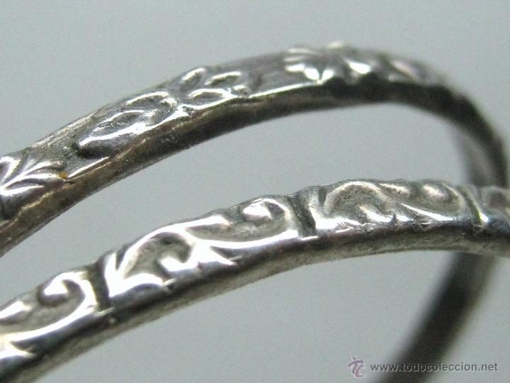 Pendientes aros de plata grandes