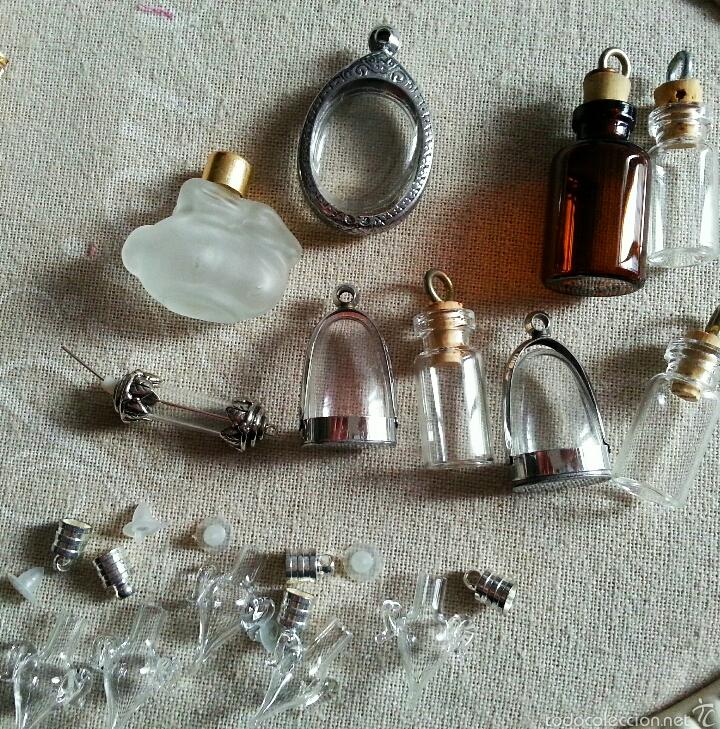 lote de colgantes vintage botellas esencieros amuletos relicarios