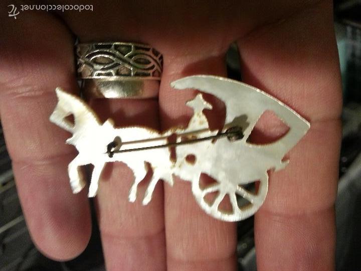 Joyeria: broche de nácar madreperla calado precioso coche de caballo - Foto 4 - 56172707