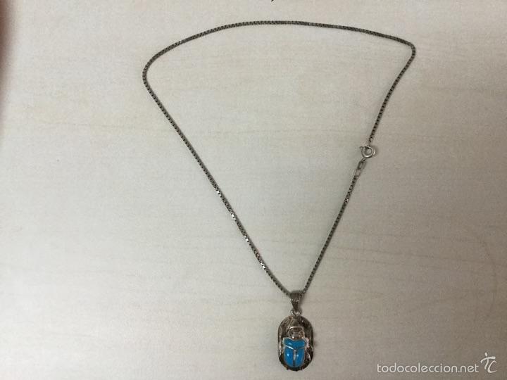 Joyeria: Cadena y colgante de plata de escarabajo egipcio plata de ley 925 - Foto 3 - 56371802
