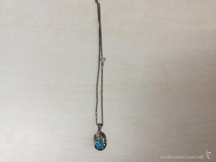 Joyeria: Cadena y colgante de plata de escarabajo egipcio plata de ley 925 - Foto 5 - 56371802
