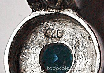 Joyeria: COLGANTE DE PLATA DE LEY CONTRASTADA Y PIEDRA AZUL. 1,8 X 1 CM. 2,7 GRAMOS. VER FOTOS Y DESCRIPCION - Foto 5 - 99301732