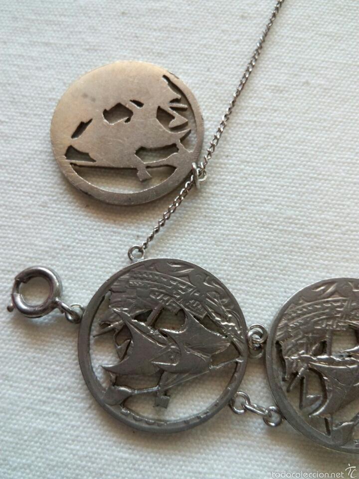 Joyeria: Pulsera de monedas antiguas - Foto 2 - 78411350