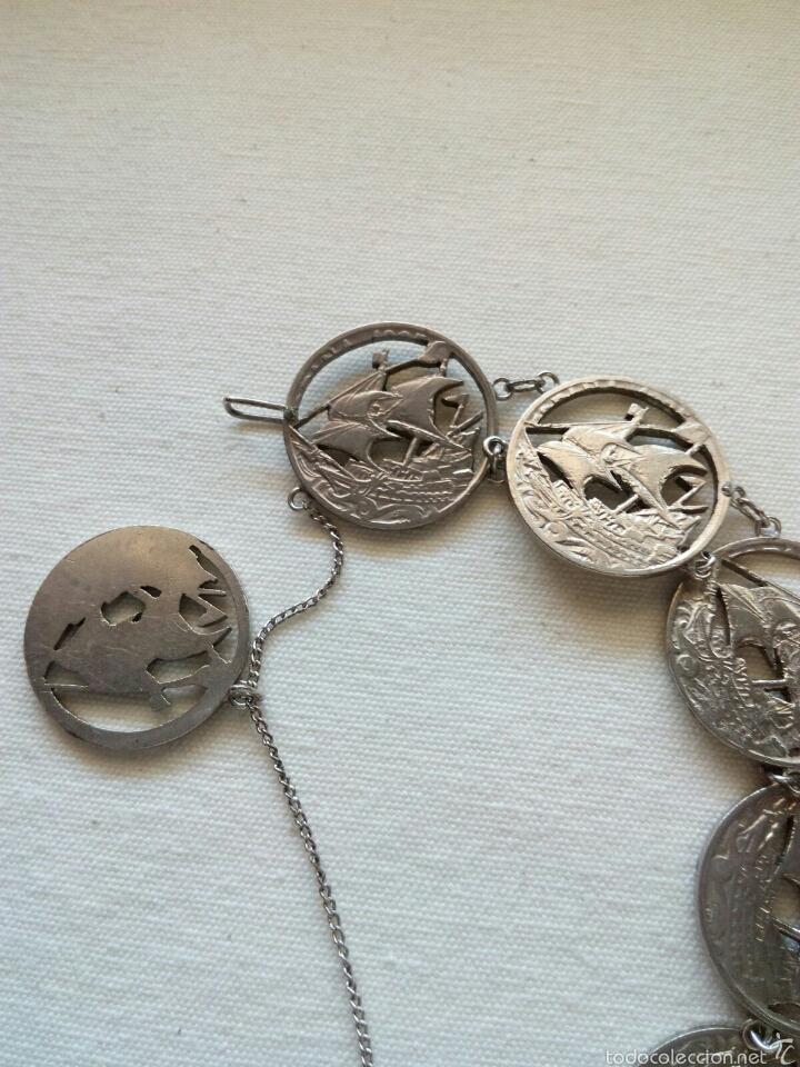 Joyeria: Pulsera de monedas antiguas - Foto 3 - 78411350
