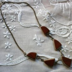 Schmuck - C38 Collar gargantilla plata? con jaspe vermellón - largo 22cm - 58215075