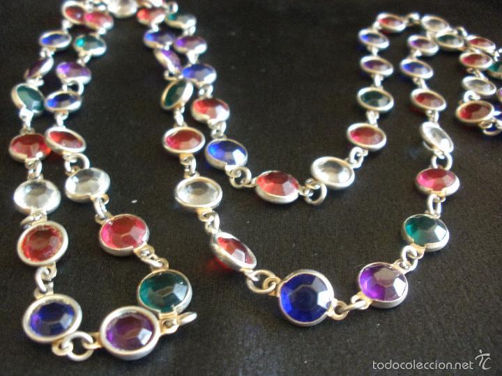 ae436f380d92 collar vintage de cuentas de cristal facetado r - Comprar Bisuteria ...