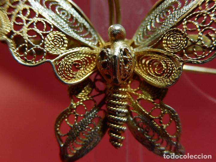 Joyeria: Mariposa filigrana en plata 800. Mitad del siglo XX. - Foto 3 - 62233704
