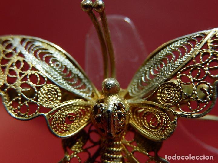 Joyeria: Mariposa filigrana en plata 800. Mitad del siglo XX. - Foto 4 - 62233704
