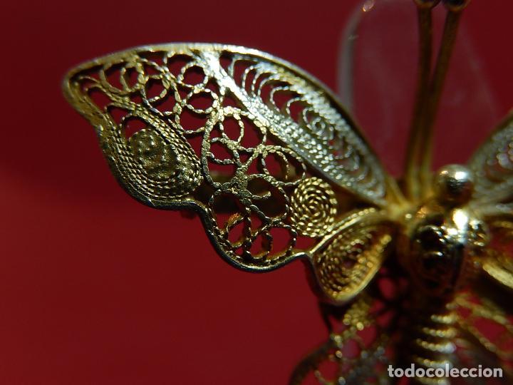 Joyeria: Mariposa filigrana en plata 800. Mitad del siglo XX. - Foto 5 - 62233704