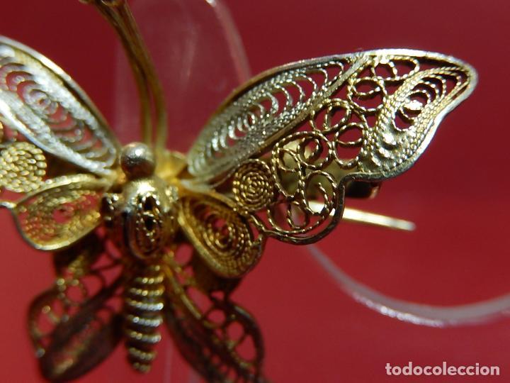 Joyeria: Mariposa filigrana en plata 800. Mitad del siglo XX. - Foto 6 - 62233704