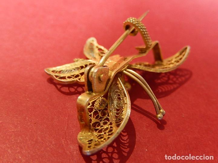 Joyeria: Mariposa filigrana en plata 800. Mitad del siglo XX. - Foto 9 - 62233704
