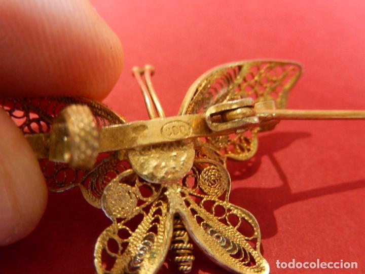 Joyeria: Mariposa filigrana en plata 800. Mitad del siglo XX. - Foto 10 - 62233704
