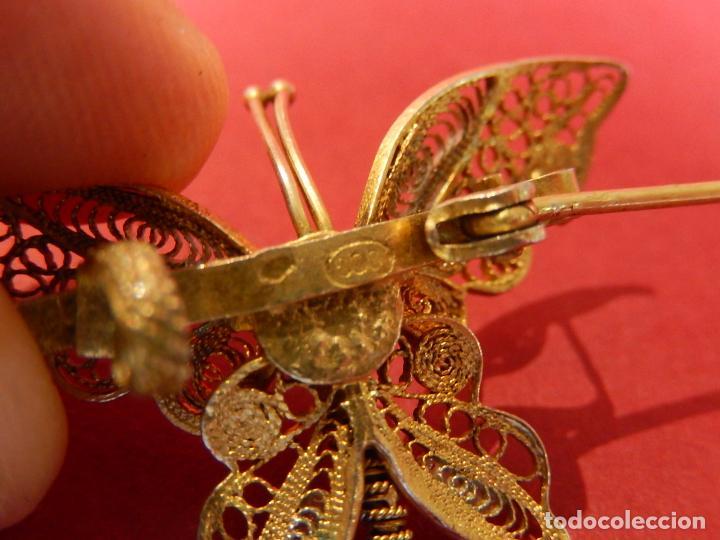 Joyeria: Mariposa filigrana en plata 800. Mitad del siglo XX. - Foto 11 - 62233704