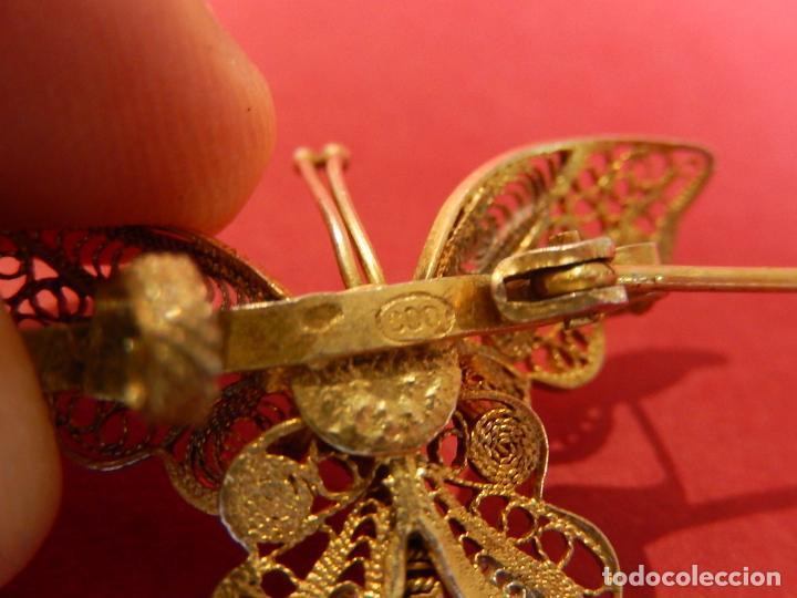 Joyeria: Mariposa filigrana en plata 800. Mitad del siglo XX. - Foto 12 - 62233704