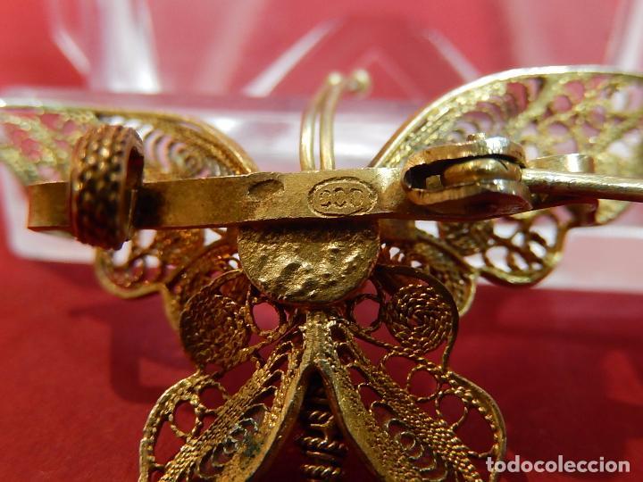 Joyeria: Mariposa filigrana en plata 800. Mitad del siglo XX. - Foto 13 - 62233704