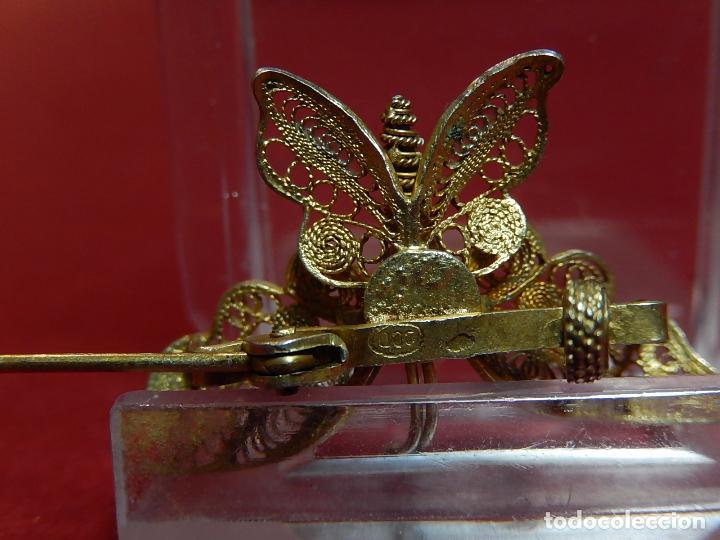 Joyeria: Mariposa filigrana en plata 800. Mitad del siglo XX. - Foto 14 - 62233704