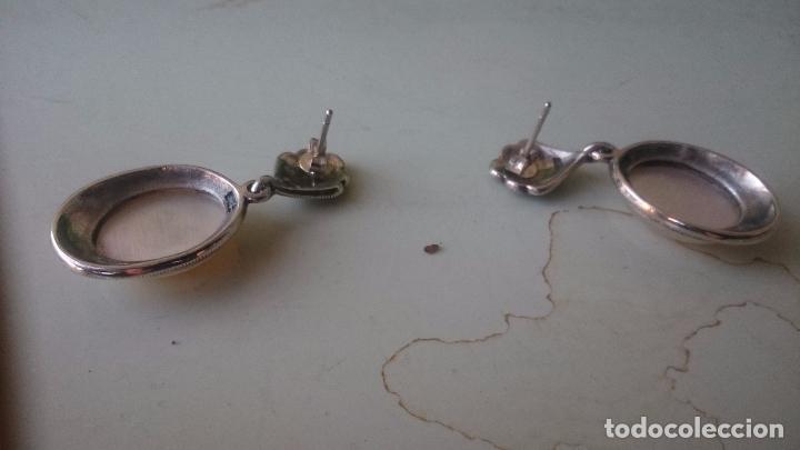 Joyeria: Pendientes en plata 925mmg pureza con nácar-zirconio. Año 1984 - Foto 3 - 192709072