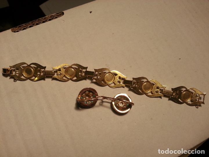 Joyeria: turquesas . antigua pareja de pendiente y pulsera juego vintage - Foto 4 - 69307321