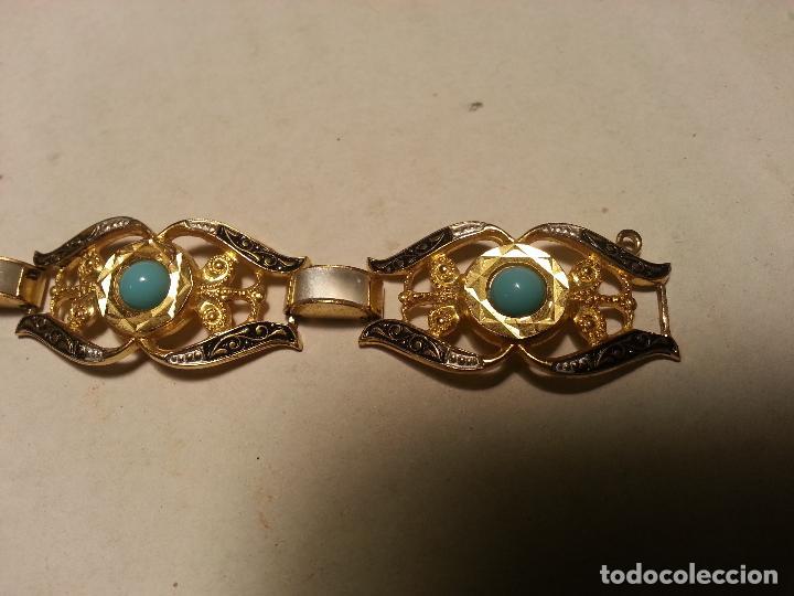 Joyeria: turquesas . antigua pareja de pendiente y pulsera juego vintage - Foto 5 - 69307321