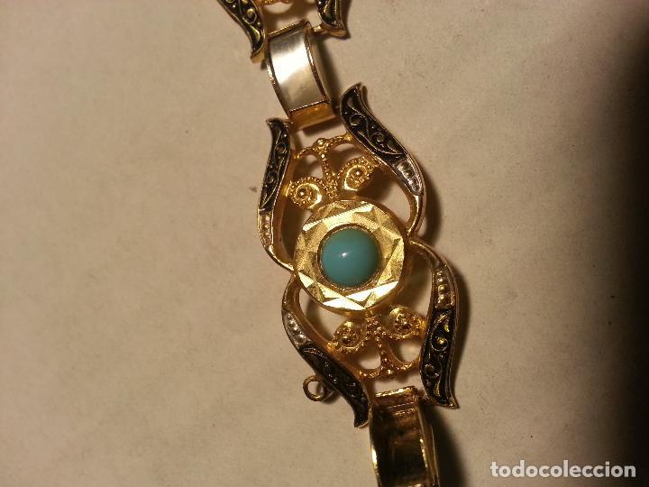Joyeria: turquesas . antigua pareja de pendiente y pulsera juego vintage - Foto 6 - 69307321