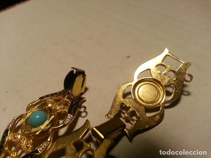 Joyeria: turquesas . antigua pareja de pendiente y pulsera juego vintage - Foto 8 - 69307321