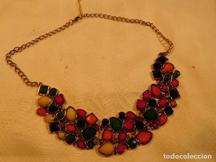 6c99a0ffcdfc collar metálico con cristales negros