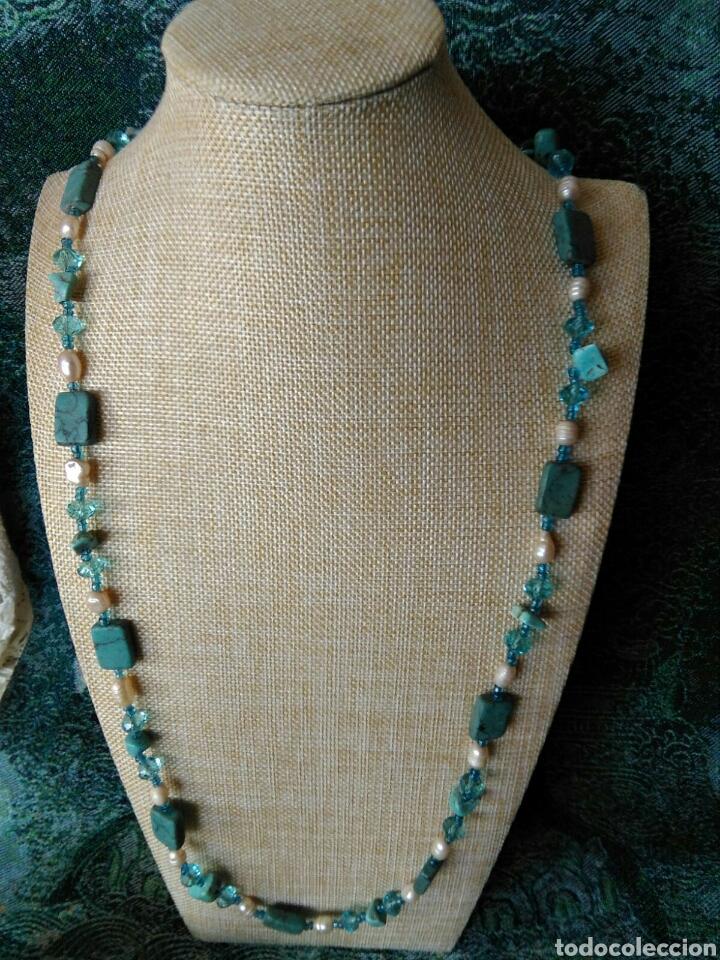 Joyeria: Muy bello collar con ágatas turquesas y perlas barrocas - Foto 4 - 78888887