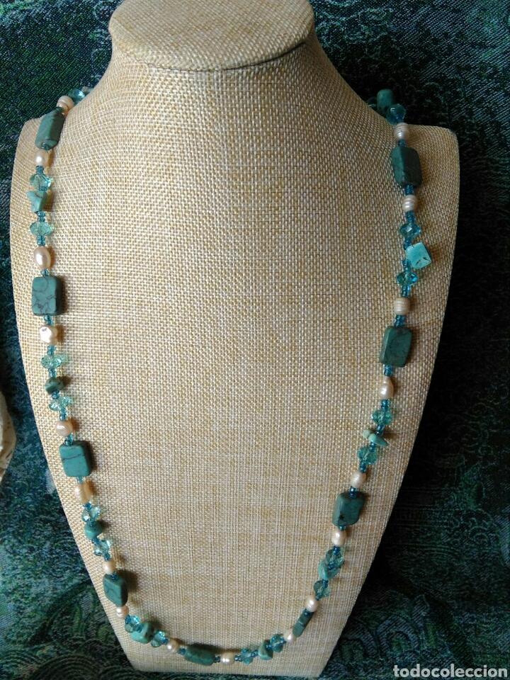 Joyeria: Muy bello collar con ágatas turquesas y perlas barrocas - Foto 7 - 78888887