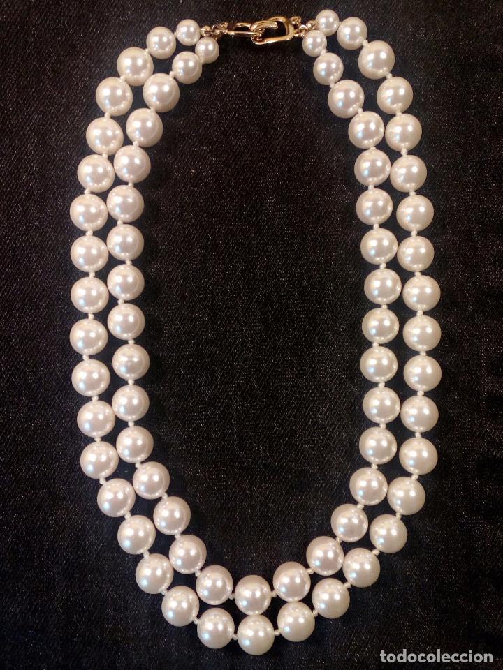 60615d3368fa collar perlas blancas de bisutería fina 2 vuelt - Comprar Bisuteria ...