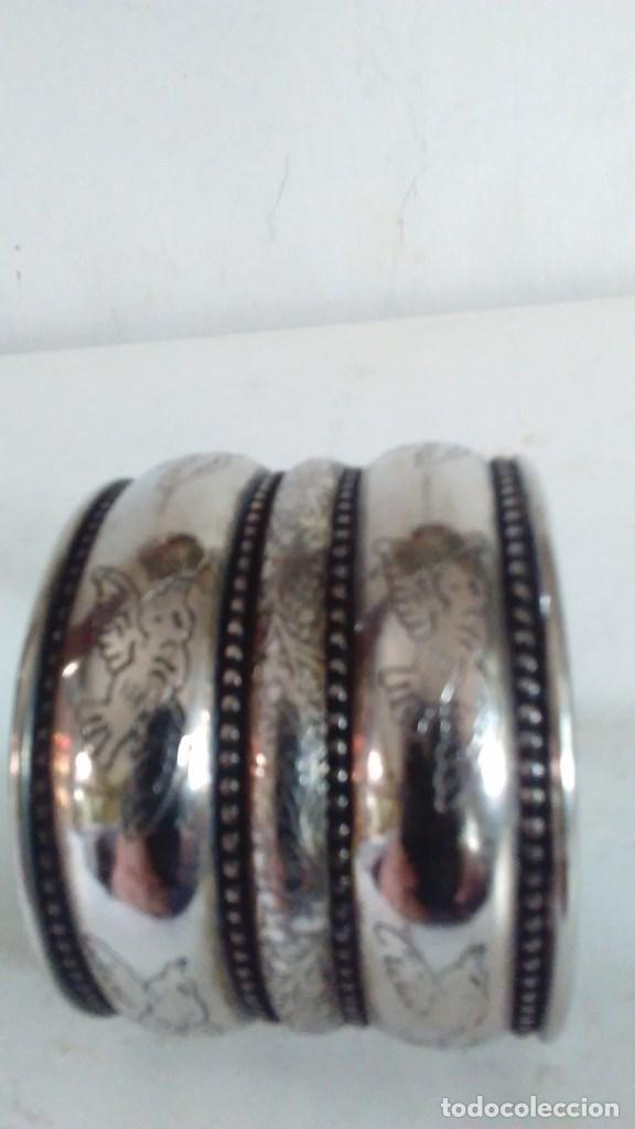 Joyeria: Pulsera brazalete de metal plateado - Foto 8 - 84817244