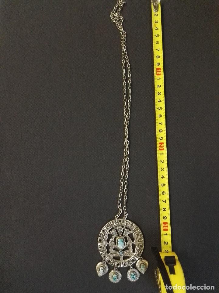 Joyeria: Collar colgante de metal y piedras azules. - Foto 2 - 91208560
