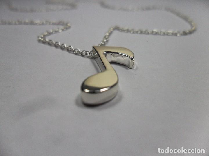 Joyeria: Cadena con colgante plata 925 con nota musical - Foto 5 - 101133003