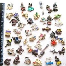 Joyeria: 46 COLGANTES SUELTOS PARA UTILIZAR COMO COLLAR PULSERA PENDIENTES PINS TODO METAL. Lote 104762515