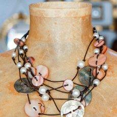 Schmuck - Collar de abalorios de nácar y metal - 111711823