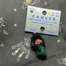 Joyeria: COLGANTE BRUJA DE LA BUENA SUERTE CANCER PIEDRA CUARZO VERDE. Lote 113857671