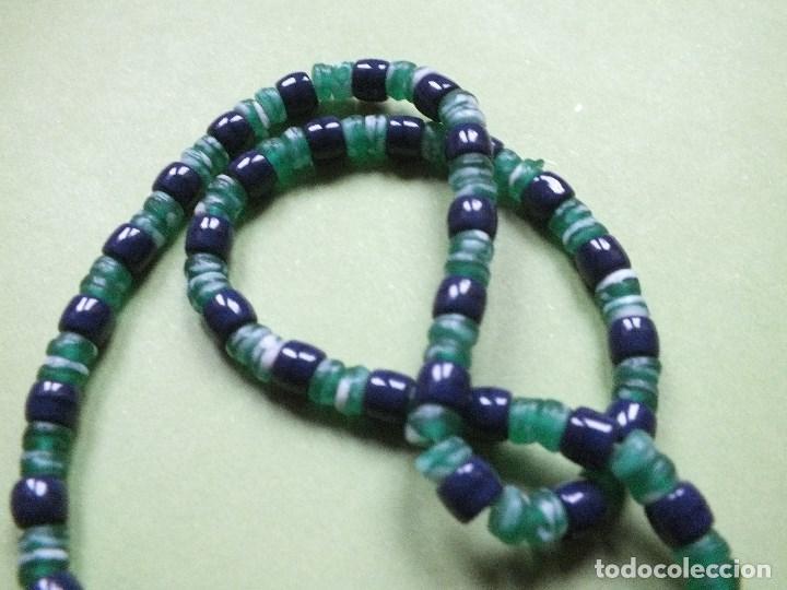Joyeria: collar gargantilla de bolas pulidas de cuentas de vidrio con irisados - Foto 2 - 113935887