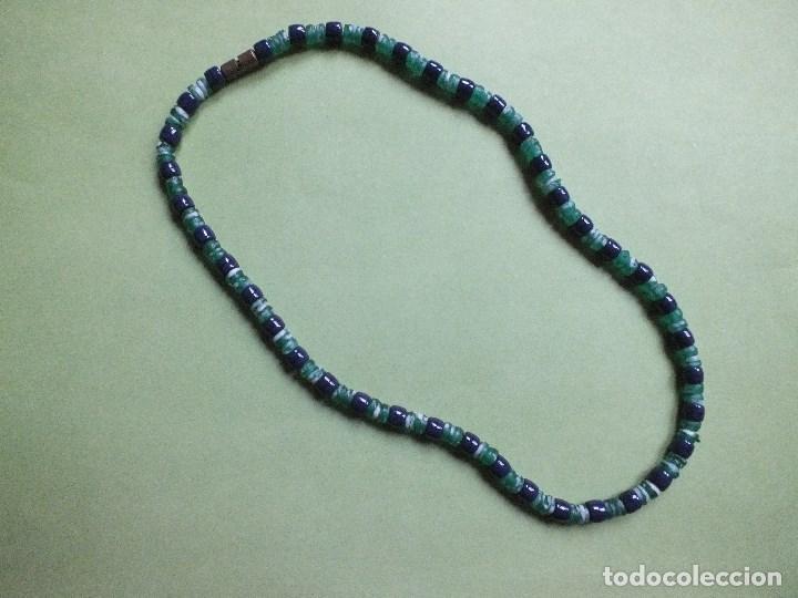 Joyeria: collar gargantilla de bolas pulidas de cuentas de vidrio con irisados - Foto 3 - 113935887
