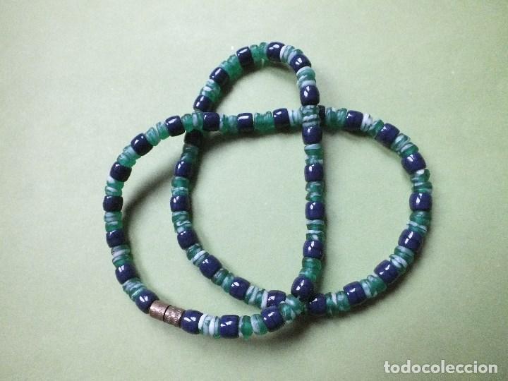 Joyeria: collar gargantilla de bolas pulidas de cuentas de vidrio con irisados - Foto 4 - 113935887