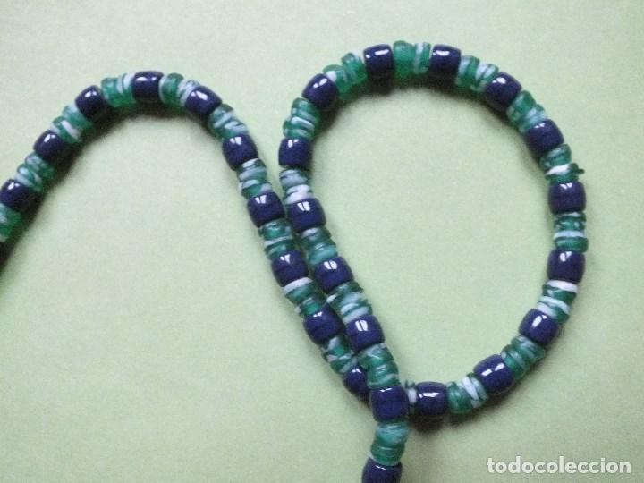 Joyeria: collar gargantilla de bolas pulidas de cuentas de vidrio con irisados - Foto 5 - 113935887