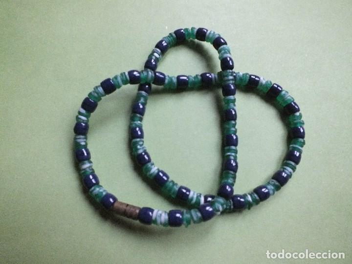Joyeria: collar gargantilla de bolas pulidas de cuentas de vidrio con irisados - Foto 6 - 113935887