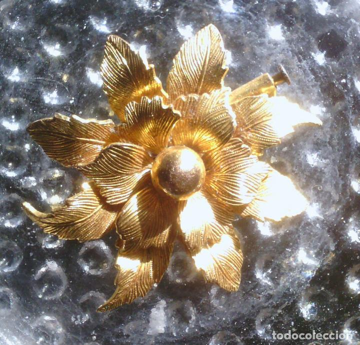Joyeria: Broche de Flor - dorado - preciosa !!! - Foto 3 - 114478243