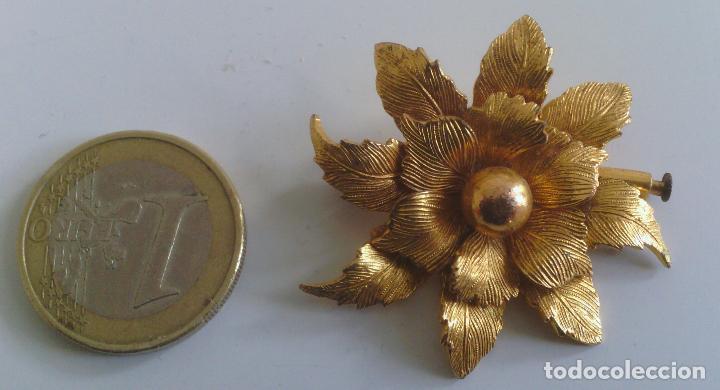 Joyeria: Broche de Flor - dorado - preciosa !!! - Foto 7 - 114478243
