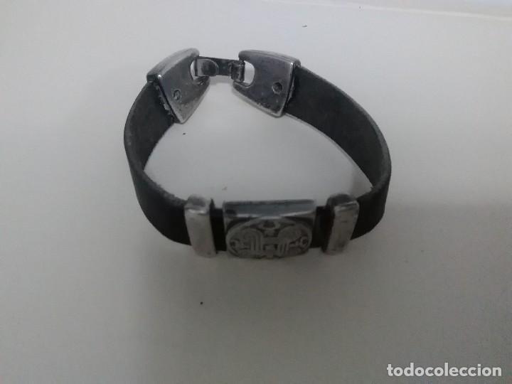 Joyeria: Pulsera plata ( 925) y cuero - Foto 3 - 114835395